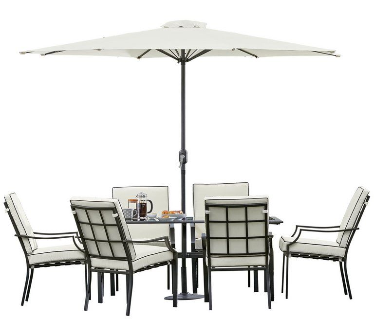 Argos Metal Garden Table And Chairs: Buy Collection Barcelona 6 Seater Metal Patio Set