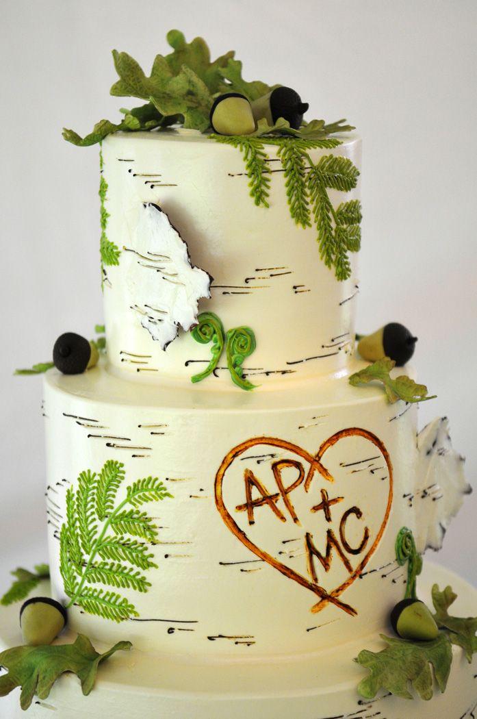 Simple green Wedding Cakes leaves | ... Wedding: Flowers, Cake, and ...