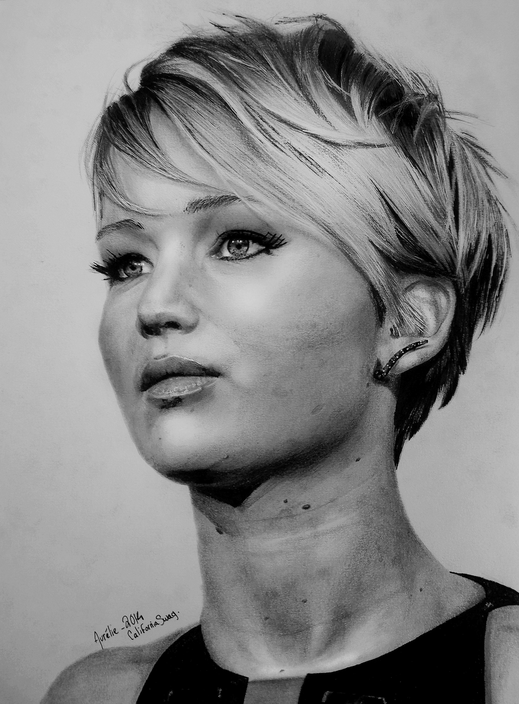 Jennifer Lawrence  Drawing 2014 by Californiaswag