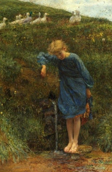 Lionel Percy Smythe (4 September 1839 – July 1918) - Reflections at the spring