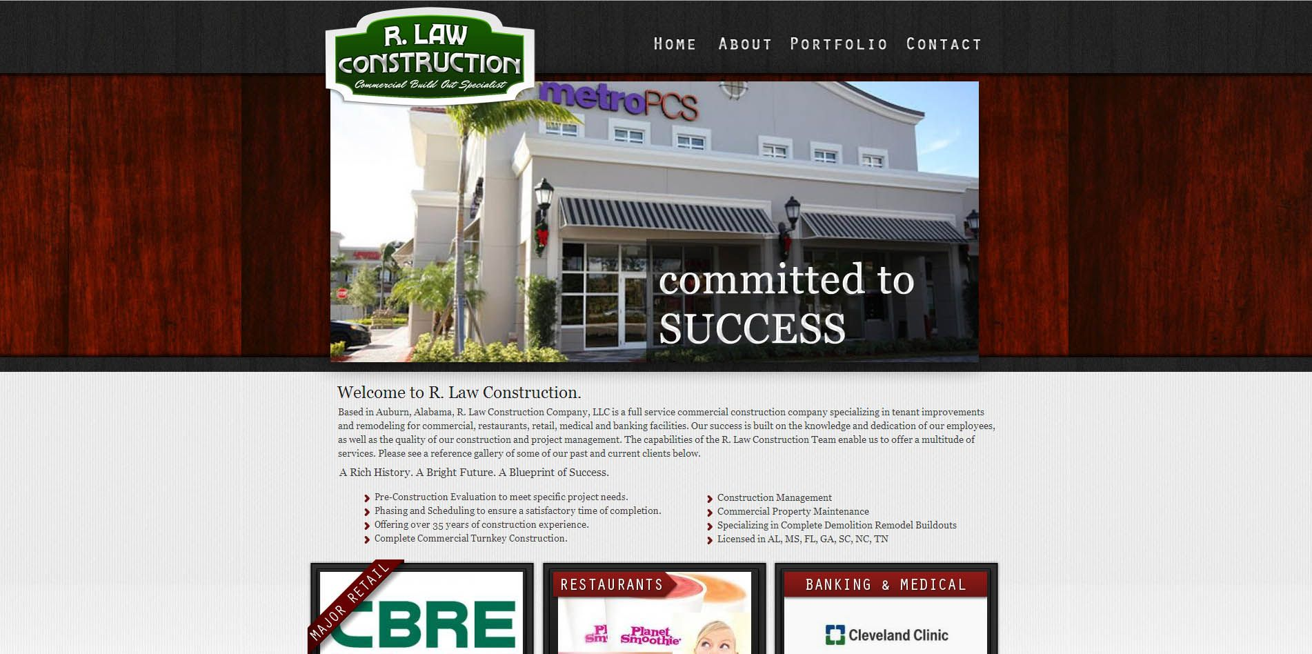 R. Law Construction Commercial Turnkey Builder in Auburn