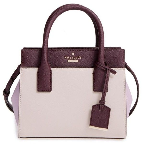 Women's Kate Spade New York 'Cameron Street - Mini Candace' Leather... (3.909.760 IDR) ❤ liked on Polyvore featuring bags, handbags, leather purses, leather satchel purse, mini purses, mini handbags and kate spade handbag
