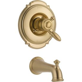 Delta Victorian Champagne Bronze 1 Handle Wall Mount Bathtub Faucet Products Tap Bathroom Taps Delta Faucets