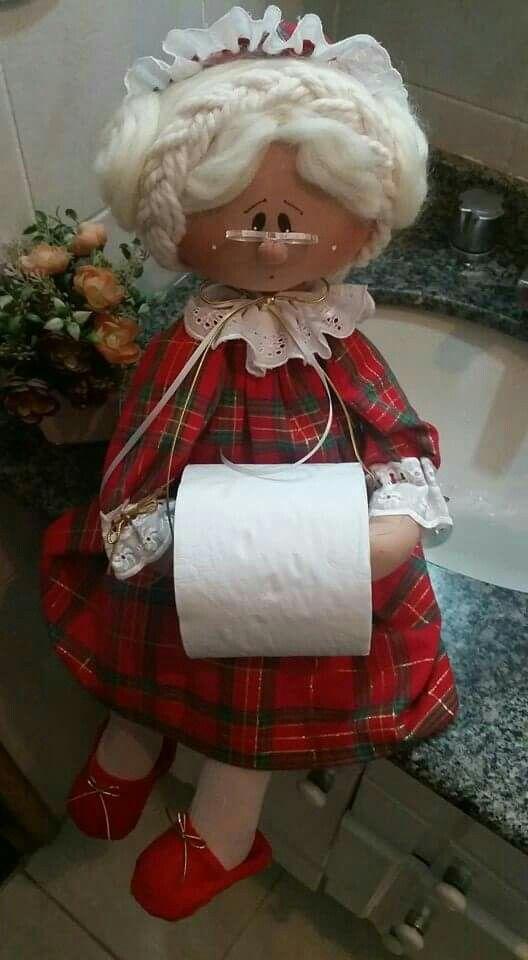 Ba o porta rollo manualidades pinterest dolls - Porta toallas para bano ...