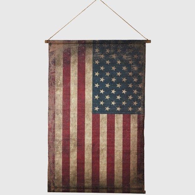 Canvas American Flag Wall Decor Patriotic Hanging Canvas Flag