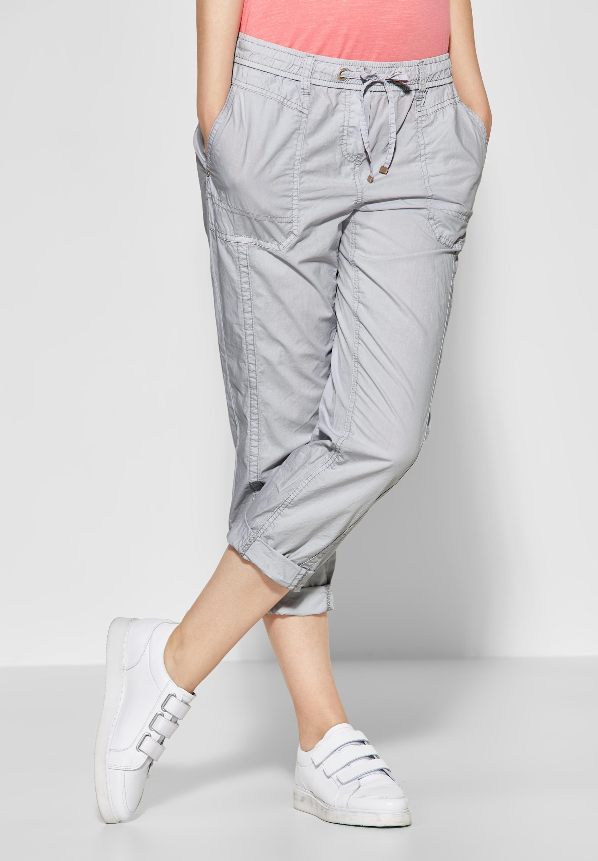 kinder heißer verkauf rabatt Keine Verkaufssteuer CECIL - Einfarbige Hose Jessy in Cool Silver | CONCEPT Mode ...