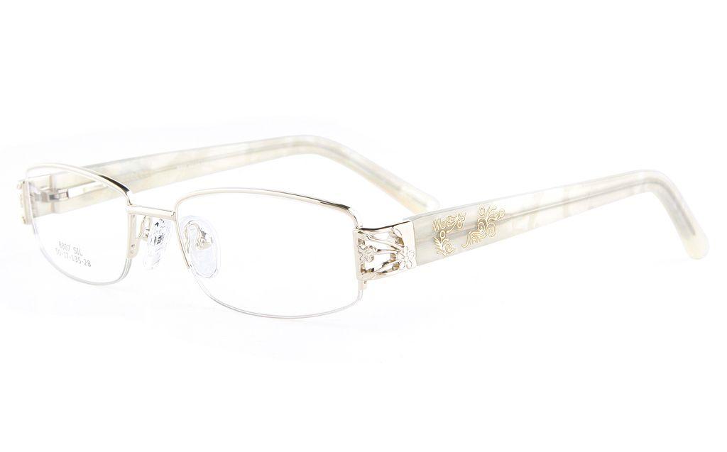 Vista First 8807 Stainless Steel/ZYL Womens Semi-rimless Optical ...