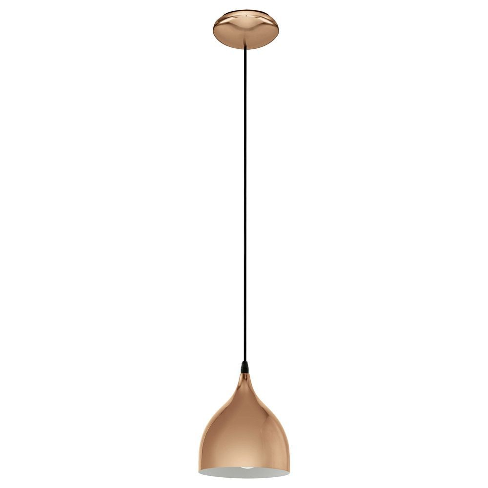 Traditional Kitchen Lighting Eglo 94743 Coretto 2 Polished Copper Breakfast Bar Pendant Light