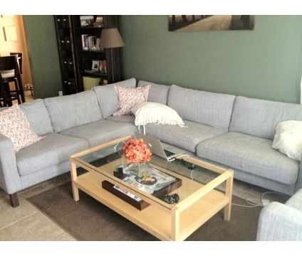 Ikea Karlstad Corner Sofa Sectional With Armchair Is A Brown Grey