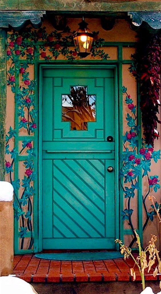Santa Fe Style Living Room: Doors, Portes, Puertas, Türen
