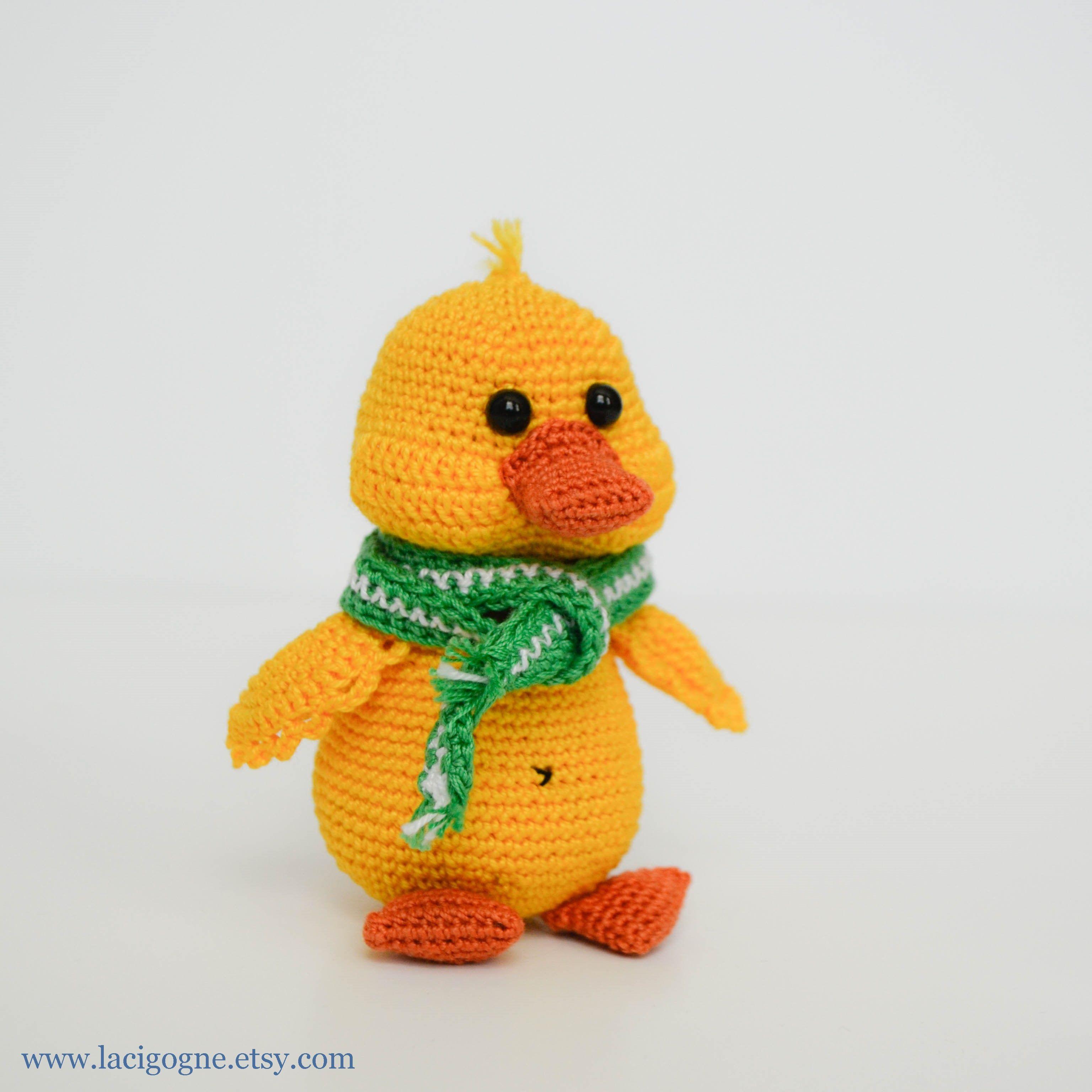 Pattern Duck Crochet Amigurumi Pattern Toy Duckling Fairytale