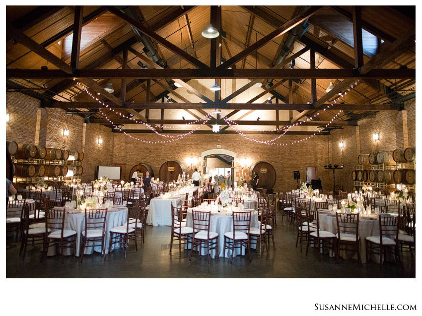 Grand Barrel Room Ready For A Wedding Reception