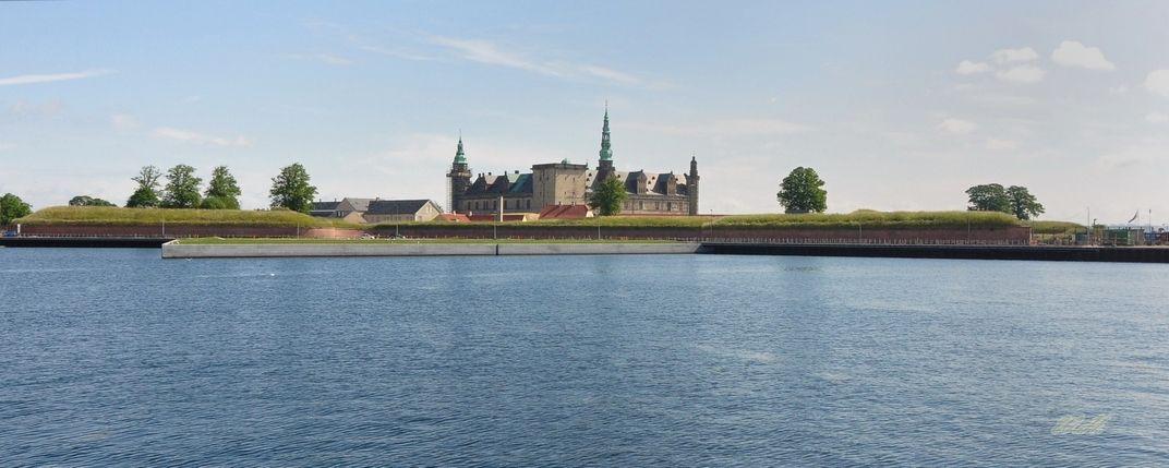 Kronborg Castle from afar @ Helsingor, Denmark. Jun 2012.