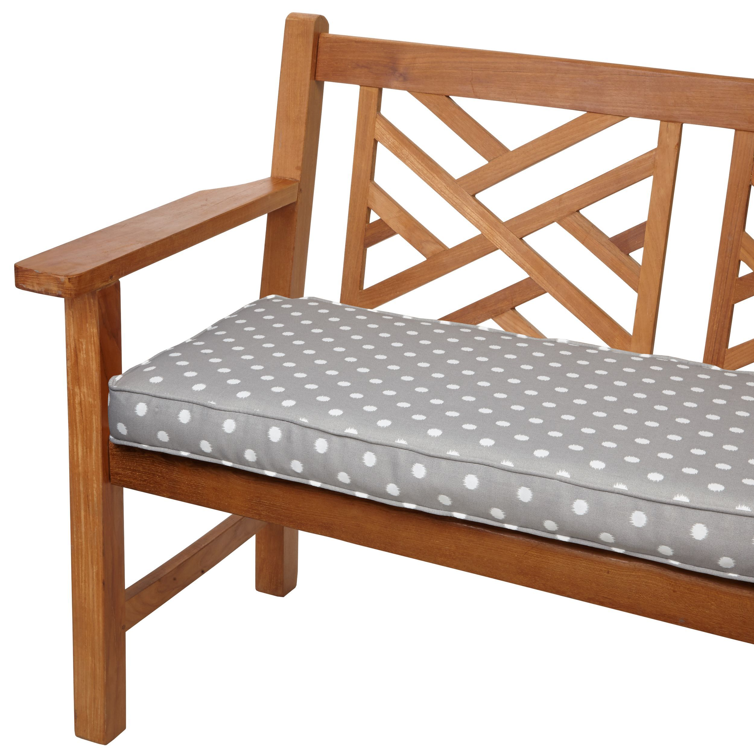 Incredible Grey Dots 60 Inch Indoor Outdoor Corded Bench Cushion For Bralicious Painted Fabric Chair Ideas Braliciousco