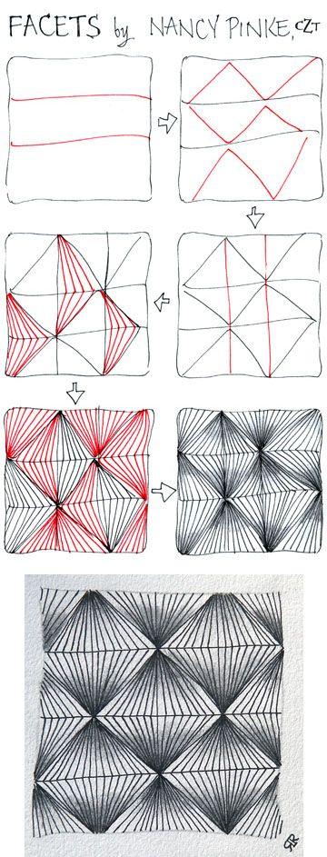 Zentangle Paso A Paso Flores Arte Zentangle Y Estampados Zentangle