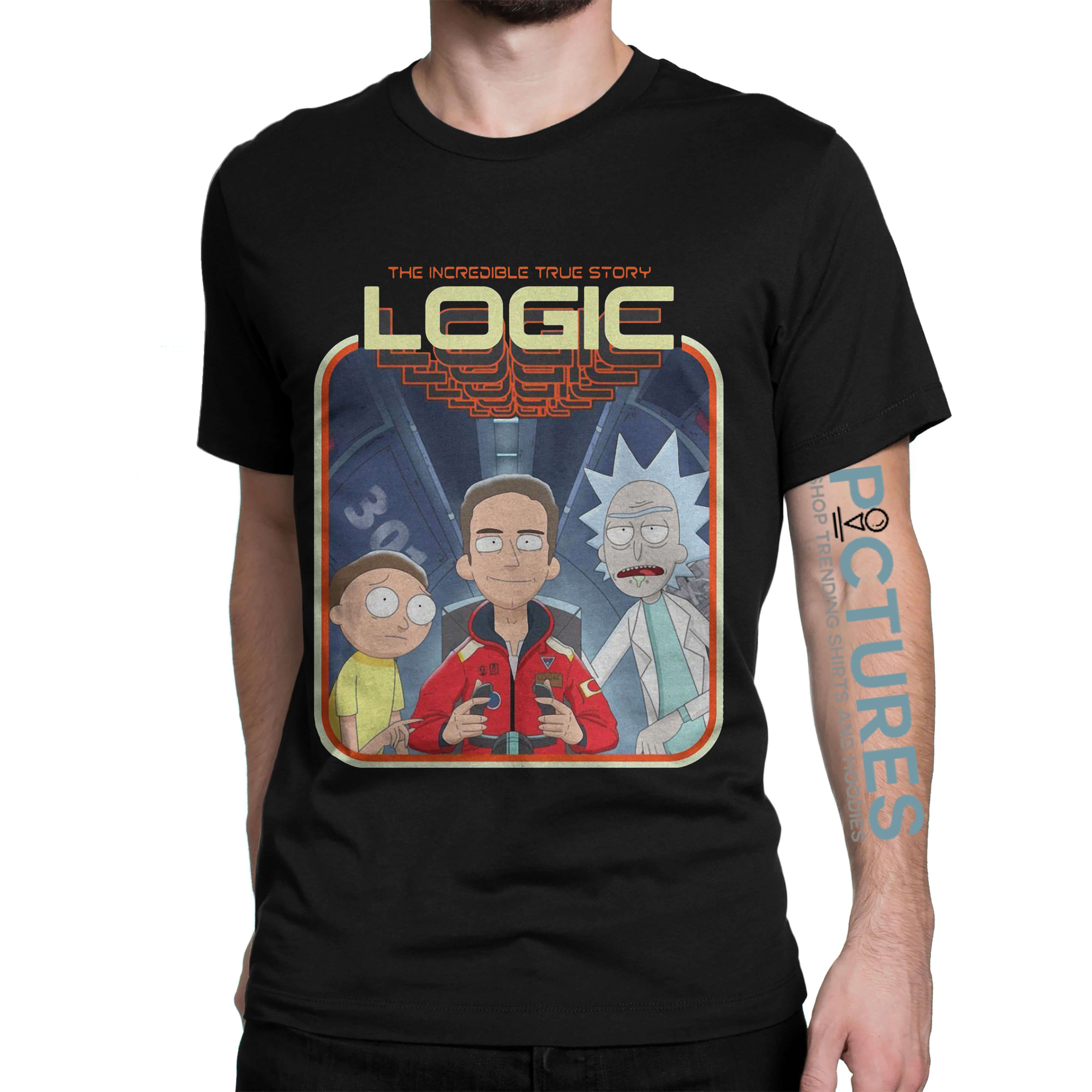 Official rick and morty logic shirt hoodie sweater v