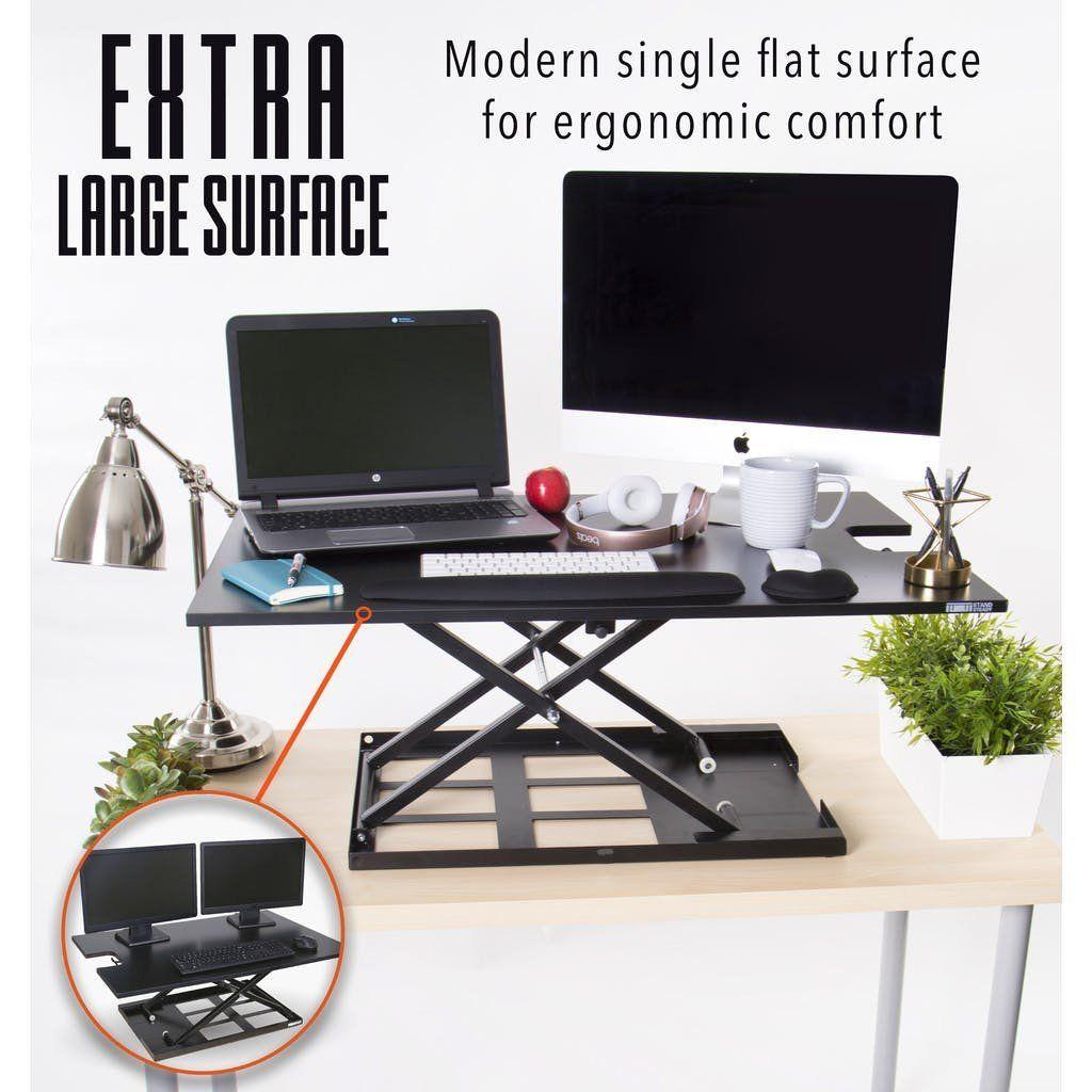 X-Elite Pro XL 36\u201d One Level Sit Stand Desk Converter | Standing ...