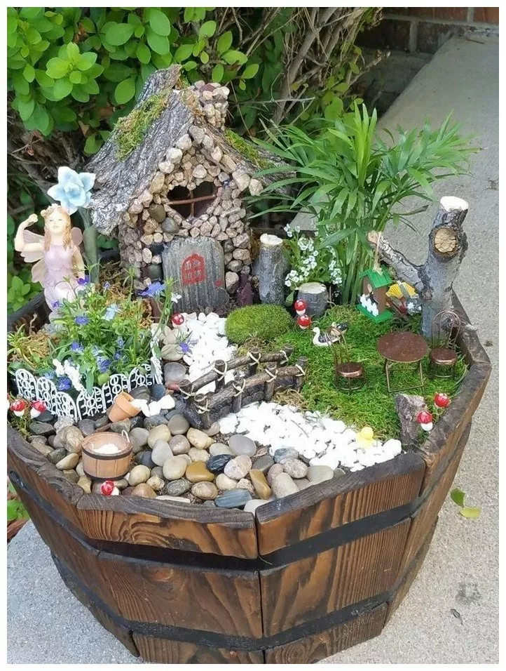 60 awesome fairy garden ideas fun addition to your garden 21 is part of Fairy garden designs -  60 awesome fairy garden ideas fun addition to your garden 21 Related