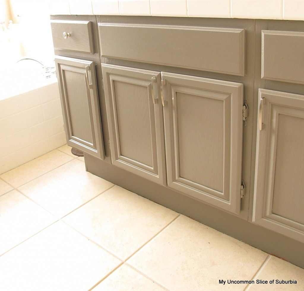 How to paint oak cabinets 80 s for Steps to painting a bathroom