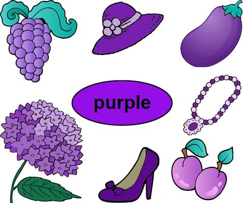 Color Purple Worksheets for Kindergarten Education