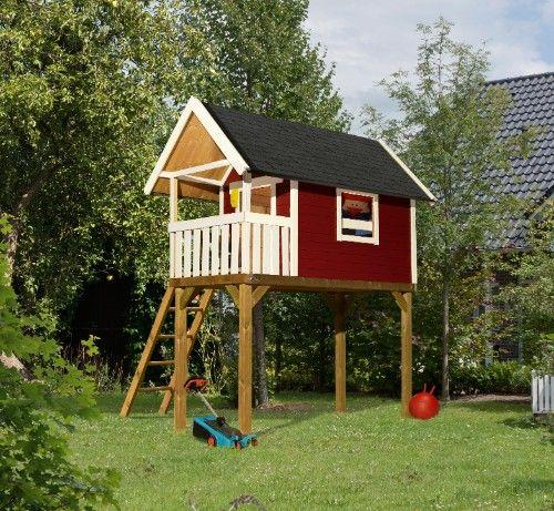 stelzenhaus gernegro kastanienrot von karibu wer tr umt nicht vom eigenen spielhaus im garten. Black Bedroom Furniture Sets. Home Design Ideas