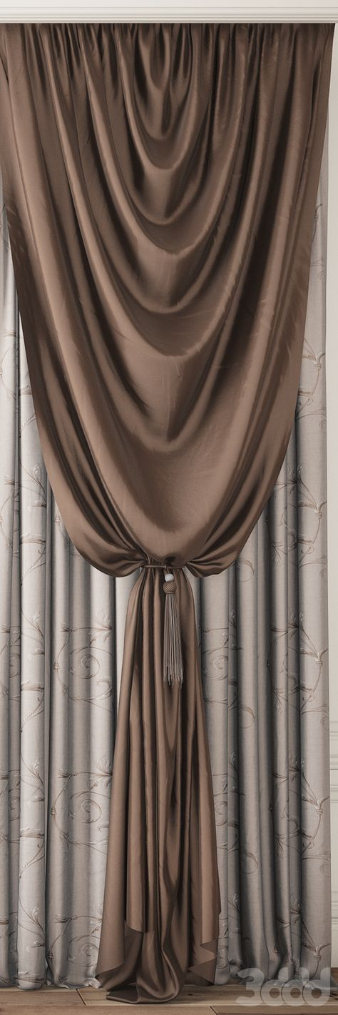 3d модели Шторы - Curtain 82 FIRANY -GARDINEN Pinterest