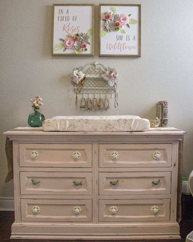 Photo of Shabby Chic Baby Girl Nursery – Project Nursery