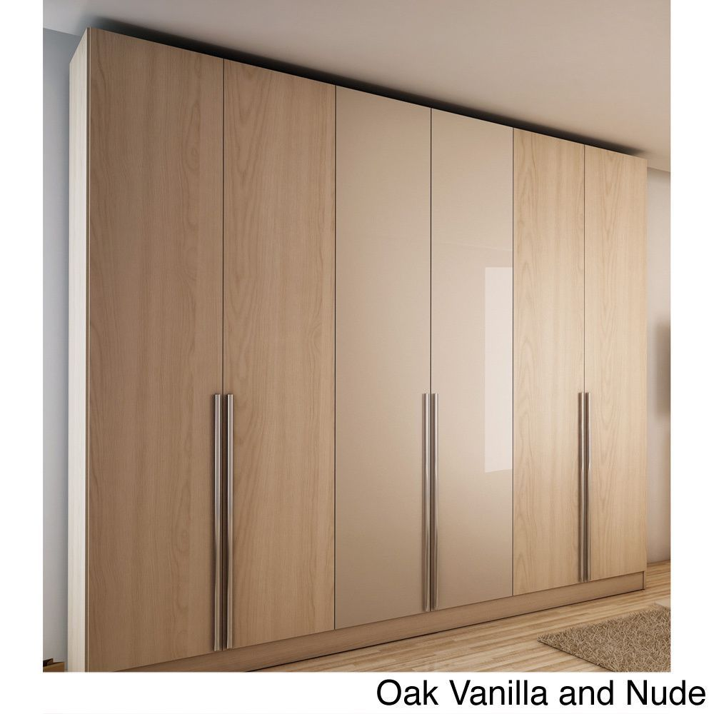 6-door Wardrobe (White Gloss), Manhattan Comfort | Wardrobe ...