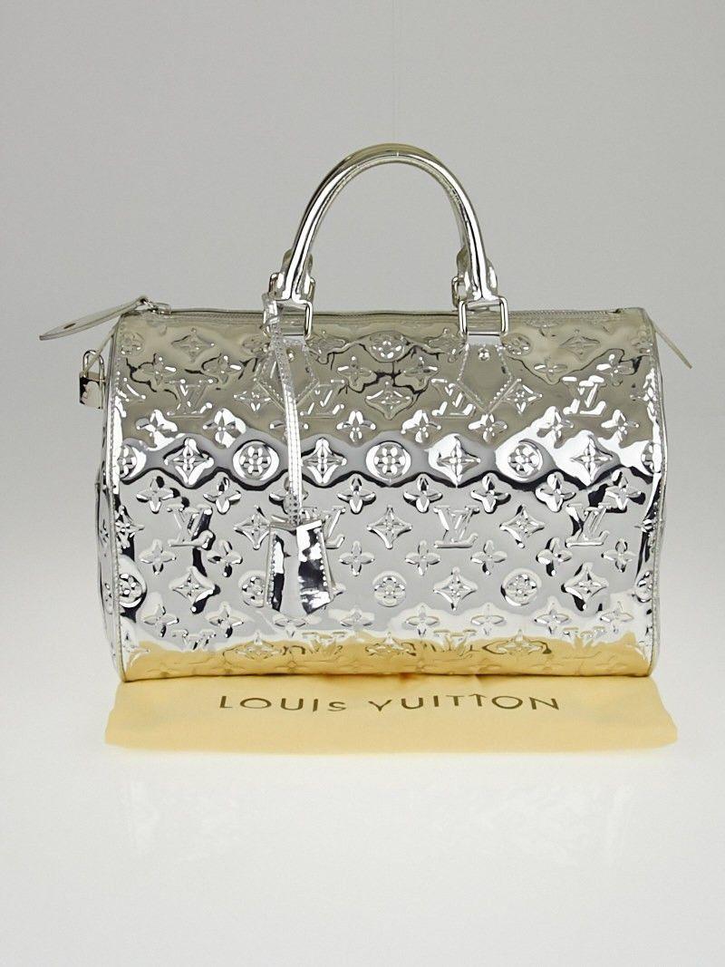 Louis Vuitton Limited Edition Silver Monogram Miroir Speedy 30 Bag ... fecf15c11587