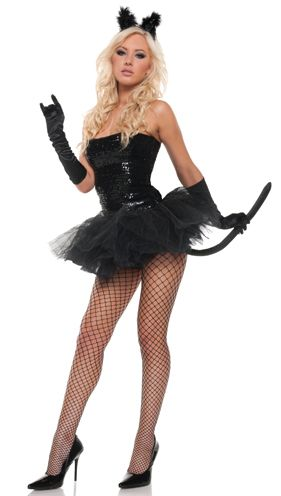 Sexy Sequins Kitty Womens Cat Costume - In Stock  sc 1 st  Pinterest & gatinha | Praia | Pinterest | Costumes