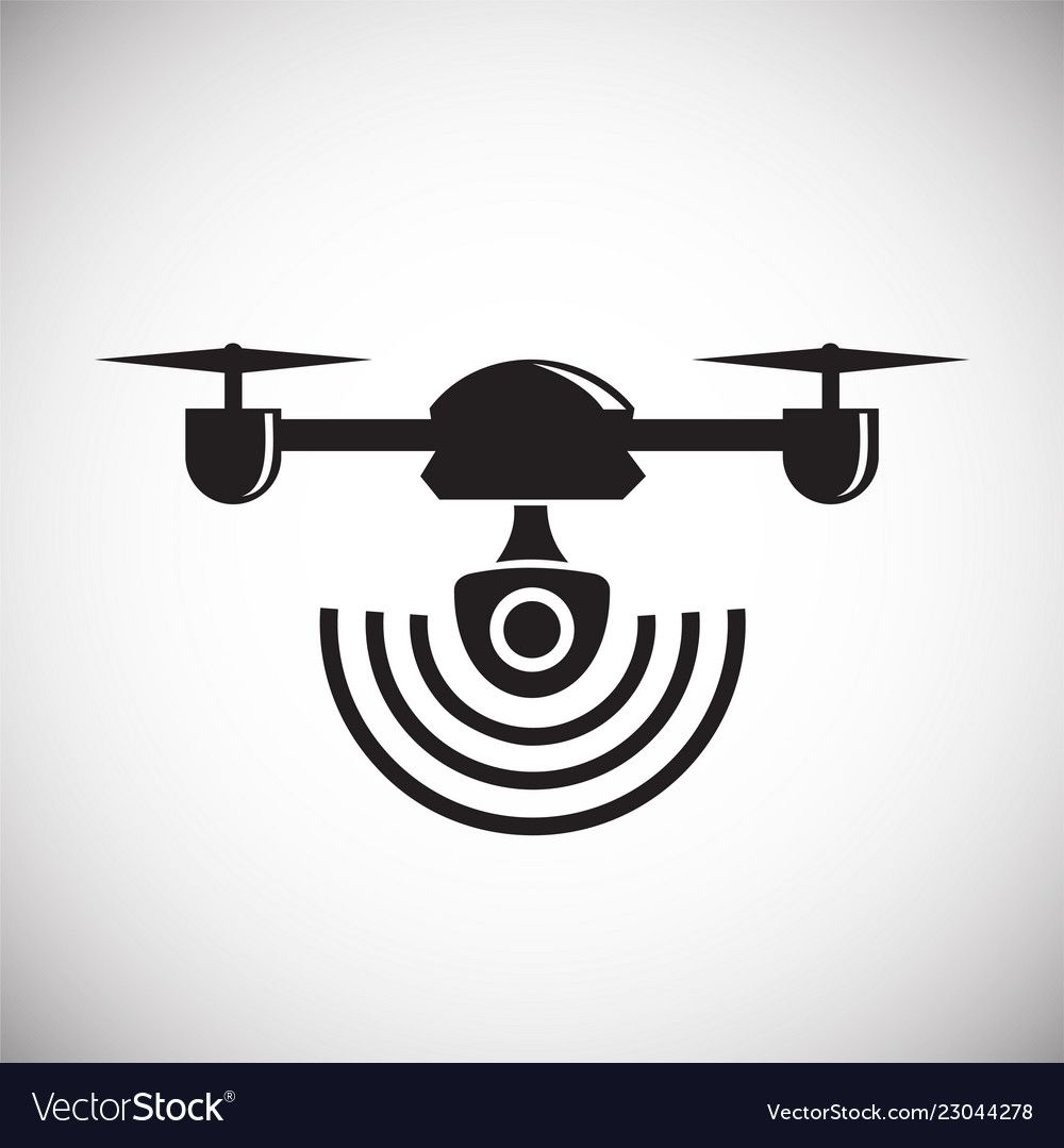 Drone Quadcopter Icon On White Background For Vector Image Vector Drone Logo Drone Photos