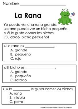 Spanish Reading Comprehension Passages And Questions The Second Set Spanish Reading Spanish Reading Comprehension Reading Comprehension Passages