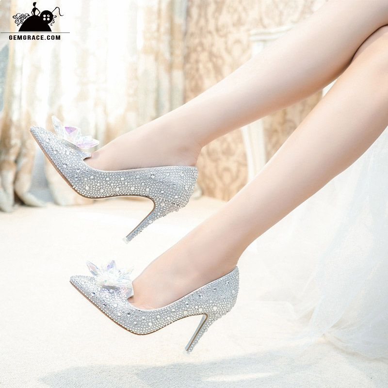 bd5f465e0a8 Glitter Crystal Red Low Heel Bridal Shoes With Floral Bow 2018  ALA ...