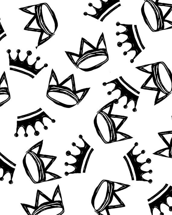 Crowns Crown Collection Black And White Royalty Digital Download