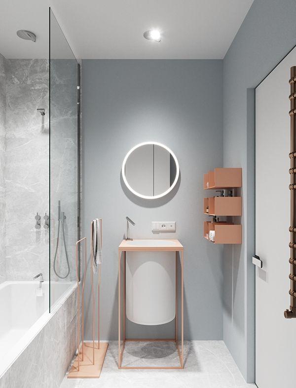 Apartment For Ballet Dancer On Behance Model Pinterest Ballet Simple Apartment Bathroom Designs Model