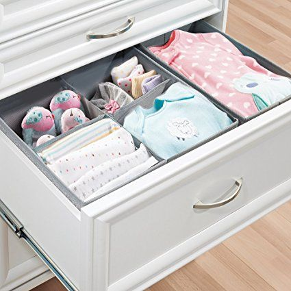 Amazon Com Mdesign Fabric Baby Nursery Closet Organizer For