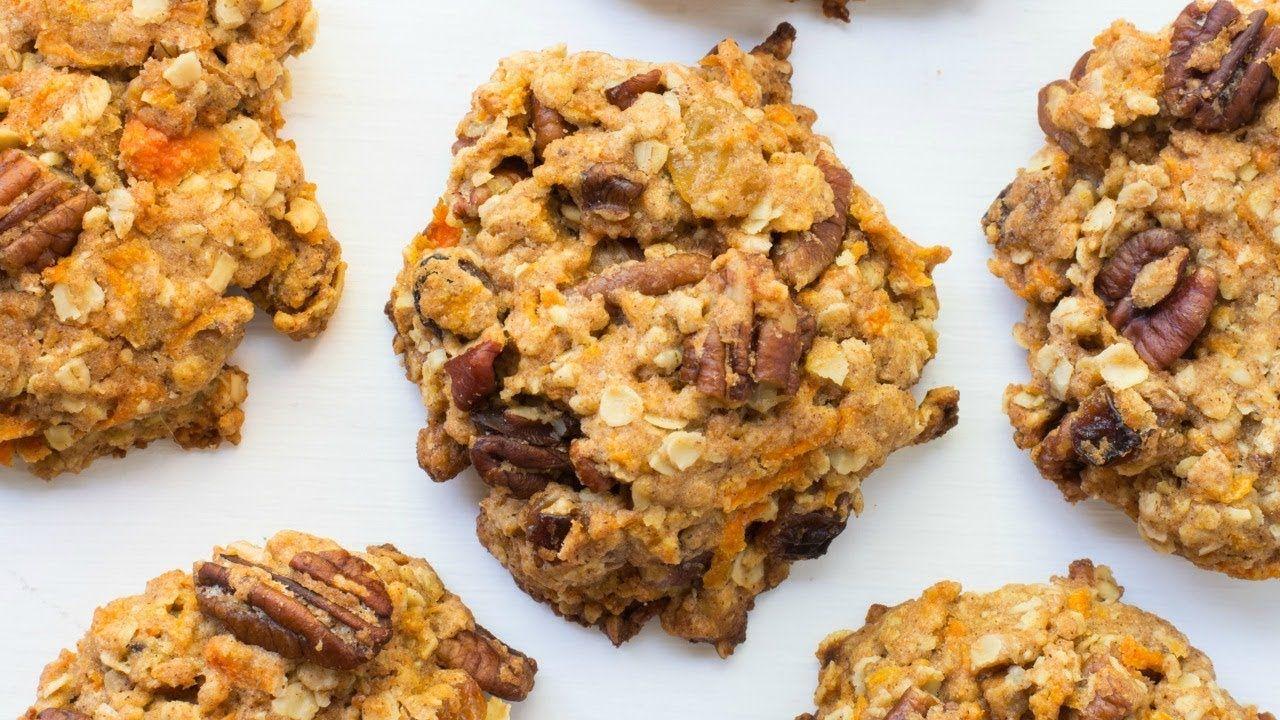 Carrot cake breakfast cookies vegan dairy free