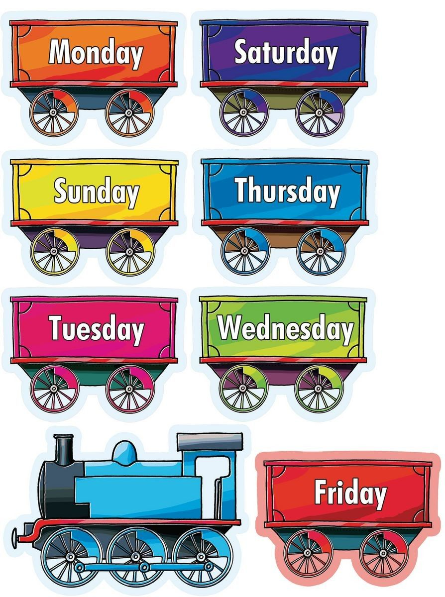 Week Days Train Kindergarten Math Worksheets Free Classroom Printables Camping Crafts Preschool