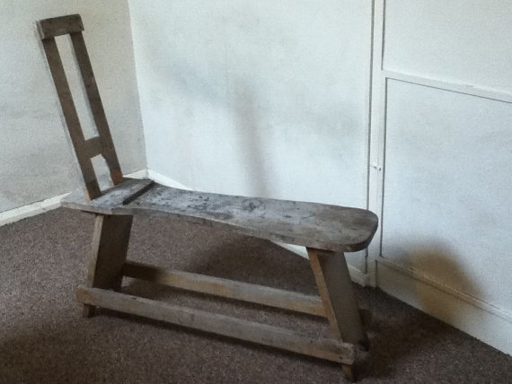 Vintage English Wooden Artist Bench Easel Painting Stand