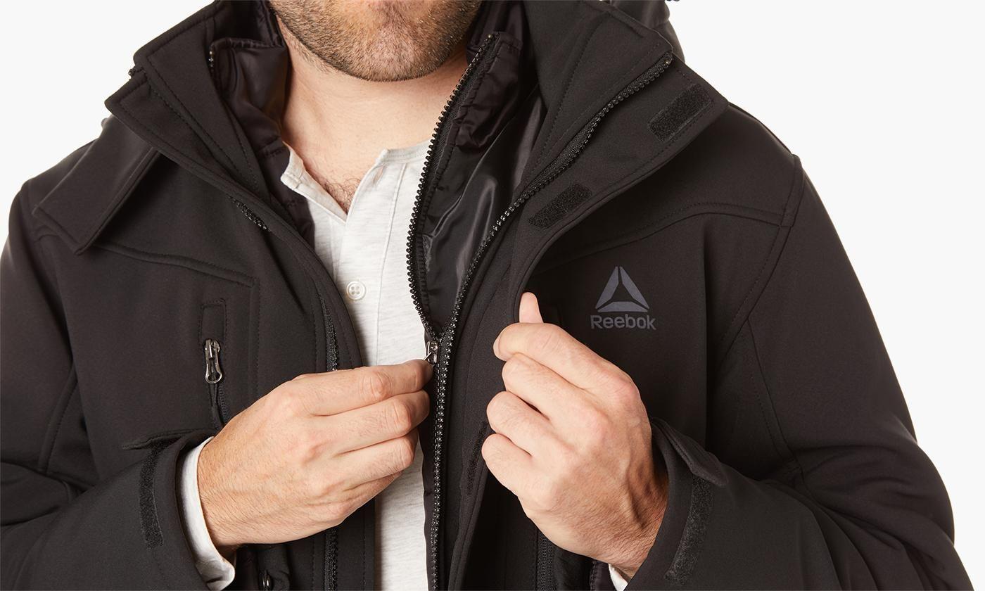 Reebok Men S 3 In 1 Systems Jacket 59 99 Jackets Rain Jacket Windbreaker [ 840 x 1400 Pixel ]
