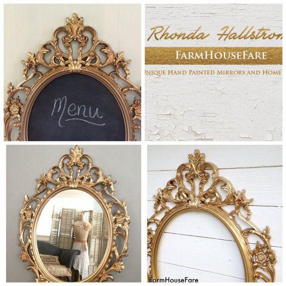 Ornate Wedding Frame Chalkboard Mirror Gold by FarmHouseFare ...