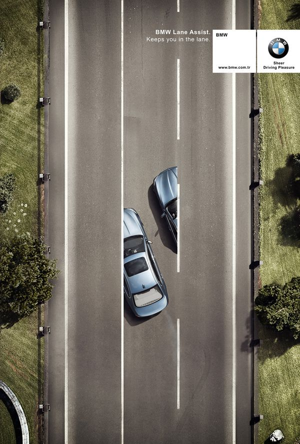 BMW Lane Assist by emre gologlu, via Behance