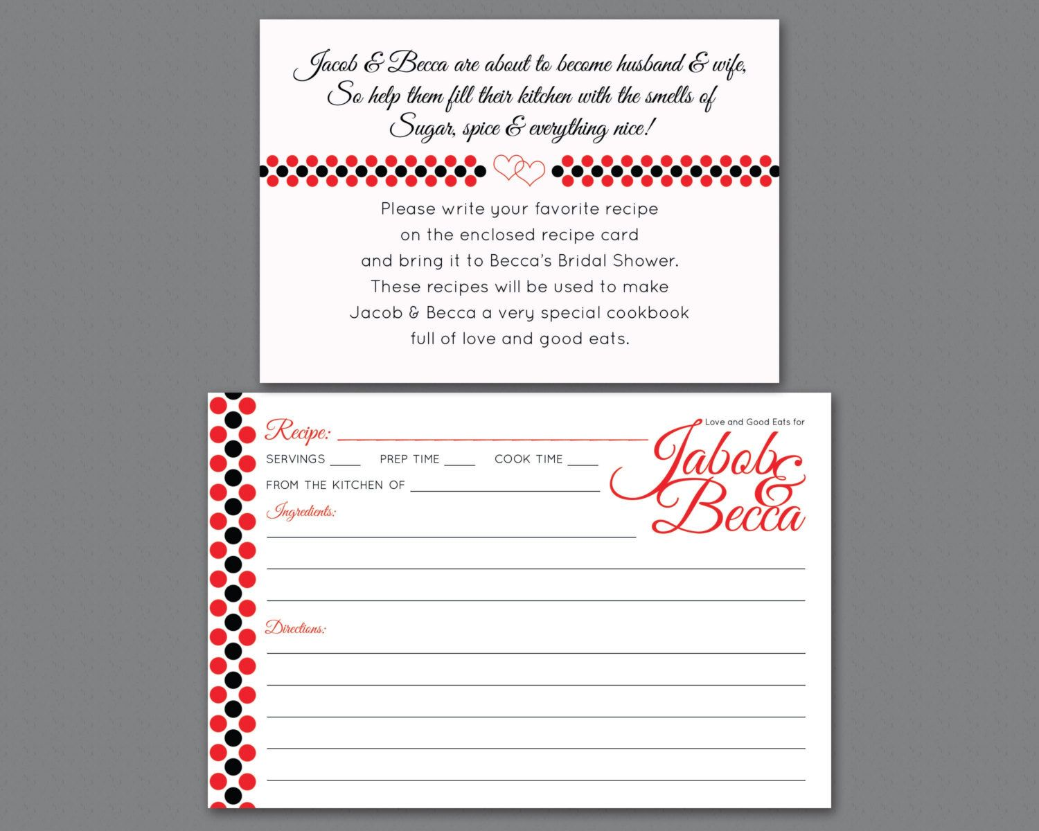 bridal shower invitation insert printable or by simplyscribed