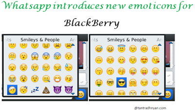 Be Updated With Tech World Whatsapp Updates Brings New Emoticons To Blackberry New Emoticons Emoticon Bring It On