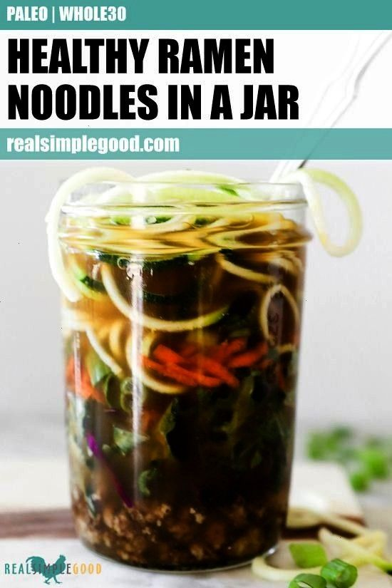 never tasted so good! This Paleo + Whole30 ramen noodles in a jar recipe is the perfect way to prep