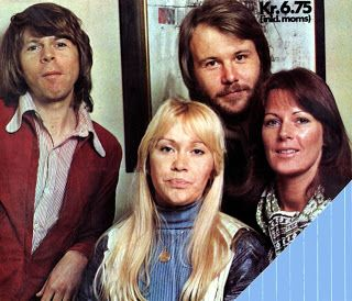 ABBA in 1976. Björn and Agnetha are already fed up with it. .