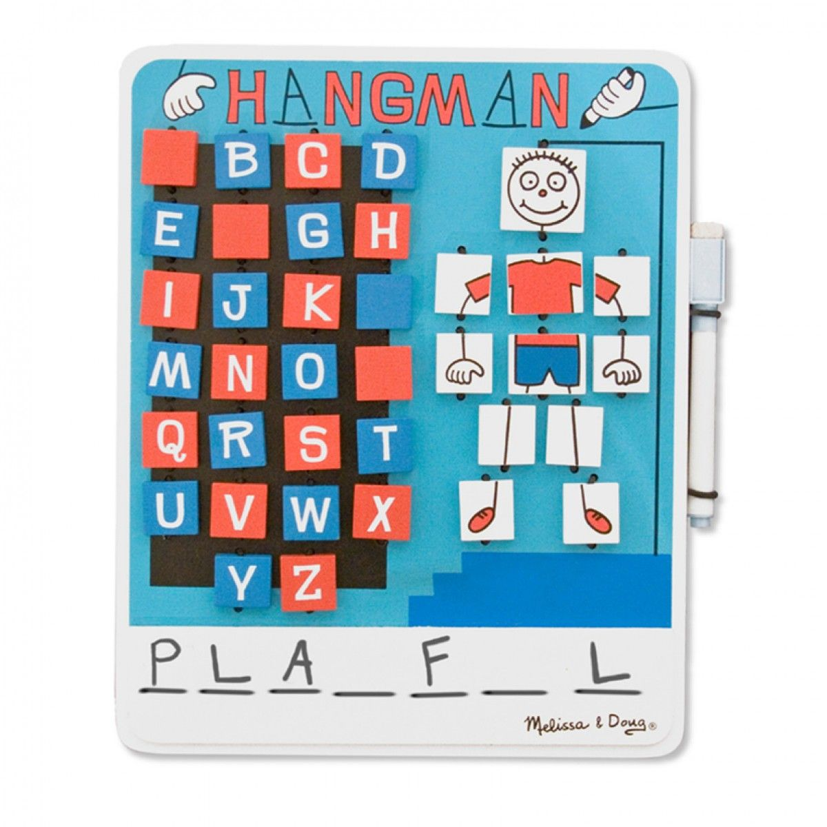 Planning on traveling this summer? Keep your little ones occupied on long journeys with this super fun Melissa & Doug Hangman travel game!
