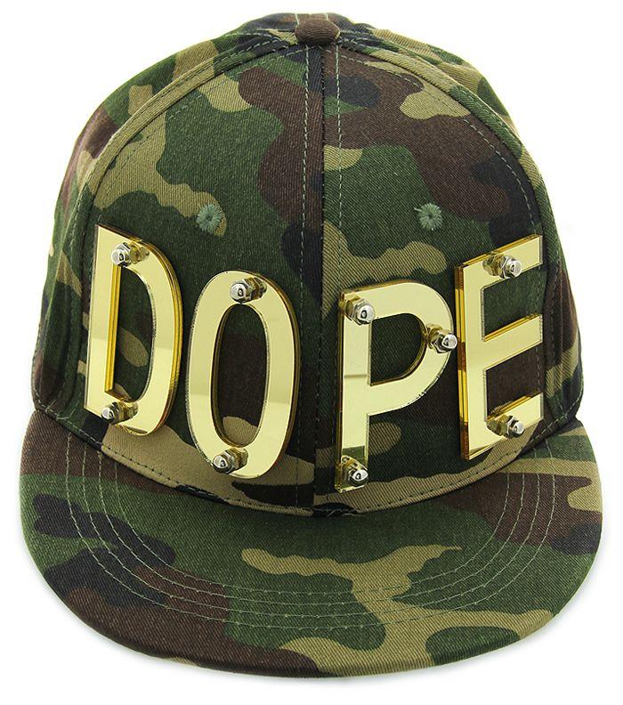 0f55ed870d9 camo dope snapback hat