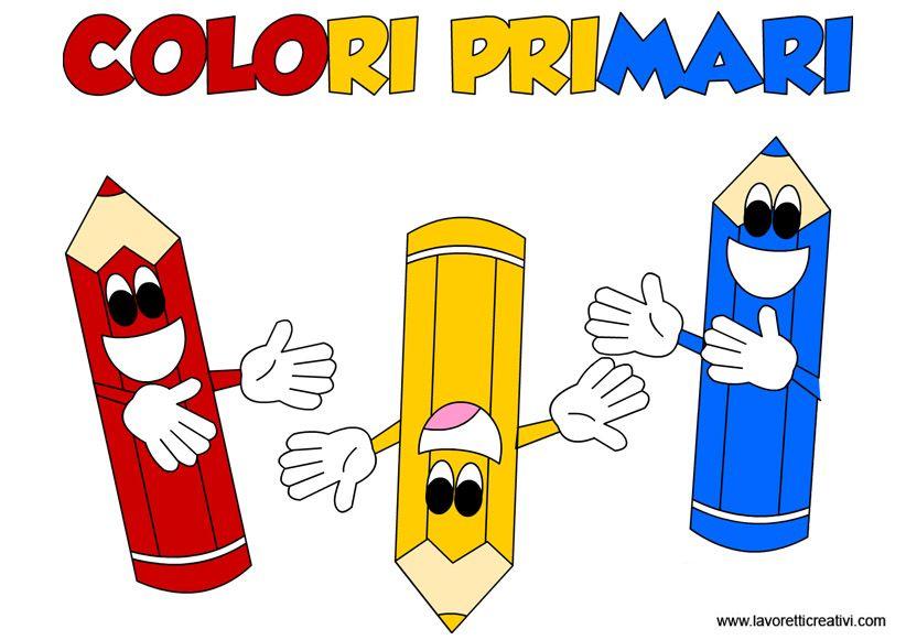 Schede Didattiche Sui Colori Primari Colori Primari Insegnare I Colori Ai Bambini Colori