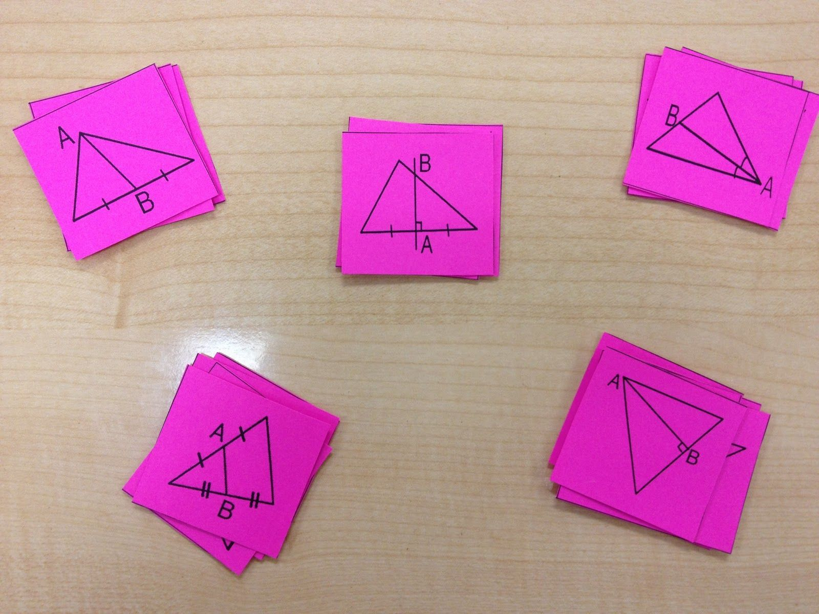 Misscalcul8 Geometry Card Sort Median Altitude Perpendicular Bisector